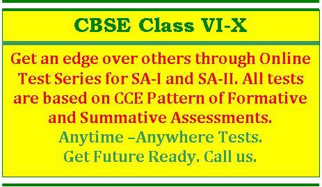 CBSE Class VI-X - Online Test Series for SA I & SA II